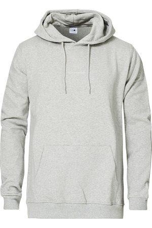 NN.07 Mænd Sweatshirts - Barrow Printed Hoodie Light Grey Melange