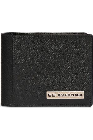 Balenciaga Metal Logo Leather Wallet