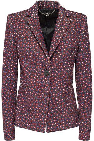 Paco rabanne Printed Tailor Velvet Blazer Jacket