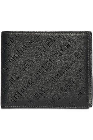 Balenciaga Allover Logo Leather Wallet