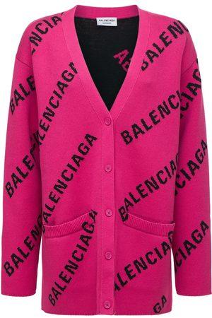 BALENCIAGA Kvinder Cardigans - Logo Cotton Blend Knit Cardigan