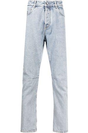 Brunello Cucinelli Mænd Straight - Stenvaskede jeans med lige ben