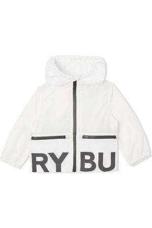 Burberry Kids Baby Regntøj - Jakke med hætte og logotryk