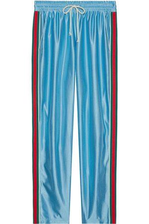 Gucci Mænd Joggingbukser - Skinnende joggingbukser i jersey med web-stribe