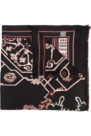 Etro Tørklæde med frynset kant og logotryk