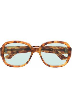 Gucci Mænd Solbriller - Tortoiseshell-effect square-frame sunglasses