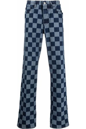 Marcelo Burlon County of Milan Mænd Straight - Checkerboard-print straight-leg jeans