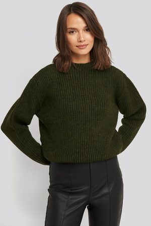 NA-KD High Neck Ribbed Knitted Sweater