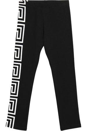 VERSACE Piger Leggings - Logo cotton leggings