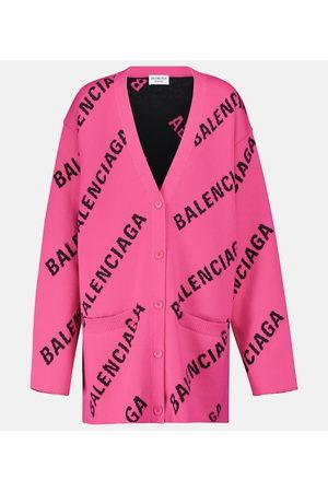 Balenciaga Kvinder Cardigans - Logo cotton-blend cardigan