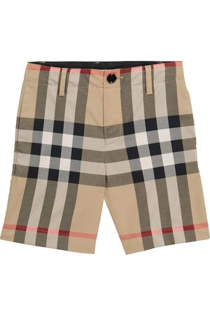 Burberry Checked stretch-cotton shorts