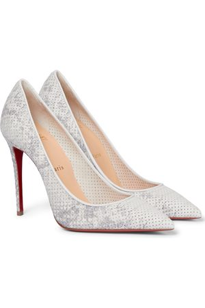 Christian Louboutin Kate 100 snake-effect leather pumps
