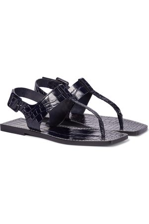 Christian Louboutin Kvinder Sandaler - Cubongo croc-effect leather thong sandals