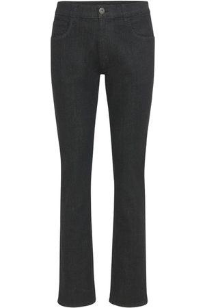 Prada 19cm Raw Stretch Cotton Denim Jeans