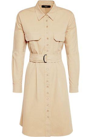 Max Mara Cotton Twill Belted Shirt Mini Dress