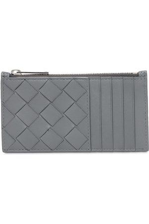 Bottega Veneta Mænd Punge - Intreccio Leather Zip Card Holder