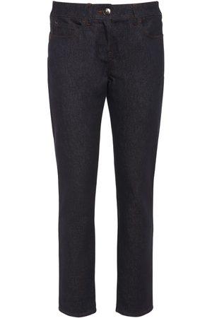Max Mara Cotton Denim Cropped Skinny Pants