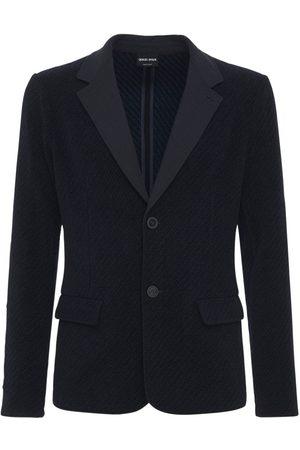 Armani Cotton Blend Jersey Knit Jacket