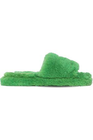 Bottega Veneta Teddy Shearling Slide Sandals