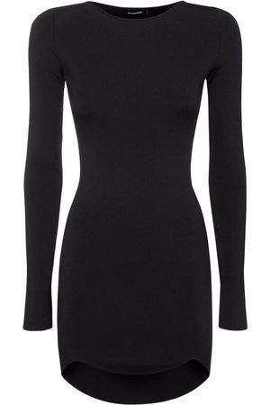 Dsquared2 Kvinder Bodycon kjoler - Viscose Blend Knit Bodycon Mini Dress