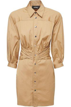 Dsquared2 Stretch Cotton Poplin Dress