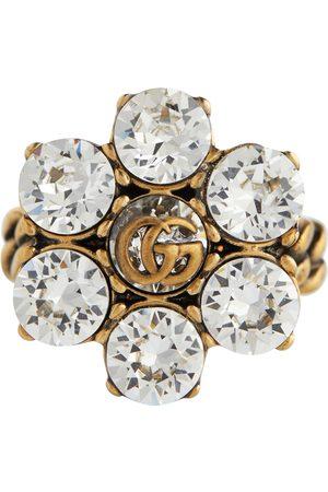 Gucci Kvinder Ringe - Double G floral embellished ring