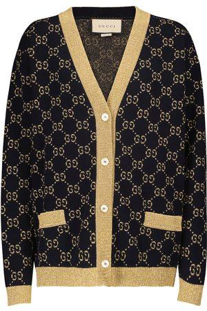 Gucci Kvinder Cardigans - Cotton-blend lamé cardigan