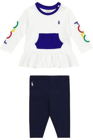 Ralph Lauren Babysæt - Baby cotton top and leggings set