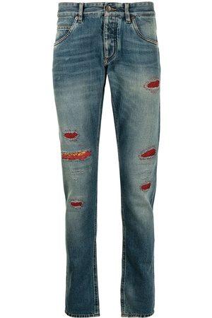 Dolce & Gabbana Jeans med mærkedetalje og smal pasform