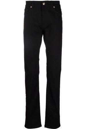 VERSACE Mænd Straight - Straight-leg Medusa logo plaque jeans