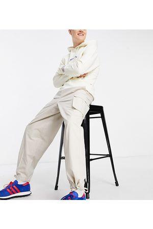 COLLUSION Stenfarvede baggy bukser i 90'er-stil-Hvid