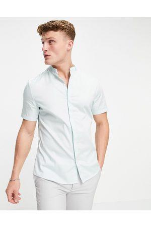 ASOS Smal skjorte med kinakrave i satin