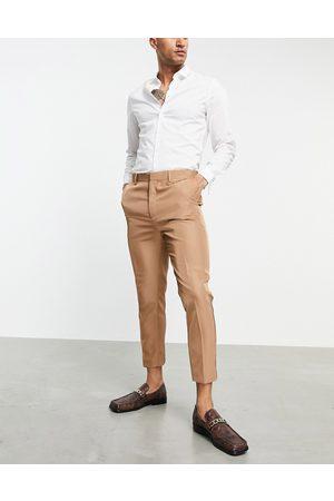 ASOS Mænd Habitbukser - Tapered habitbukser i kamelbrun-Neutral