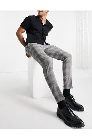 ASOS Super skinny elegante bukser i sorte Prince of Wales-tern