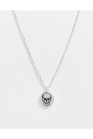 Bolongaro Medaljonhalskæde med graveret kranie