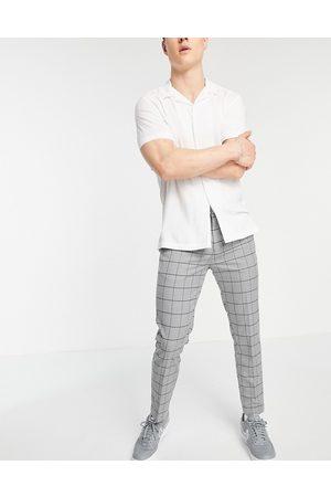 New Look Elegante, cropped skinny-bukser i tern