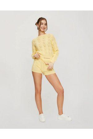 Miss Selfridge Kabelstrikkede shorts i - Del af sæt