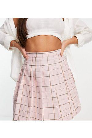 ASOS ASOS DESIGN Tall - Plisseret tennis-mininederdel i ternet pink print