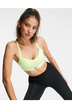 Reebok Training - Lux - Lime sports-BH med medium støtte og stropper bagpå