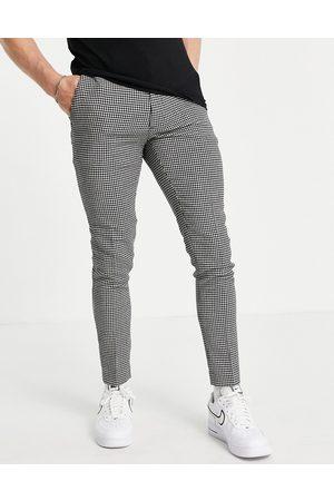 ASOS Elegante super skinny-bukser med sorte pepitatern