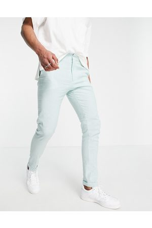 ASOS Elegante Skinny-bukser i stribet mintgrøn og
