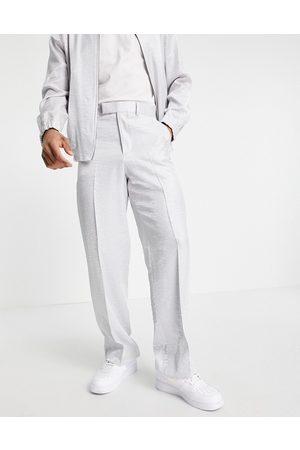 ASOS Elegante bukser med ben med vidde i satin - Del af sæt