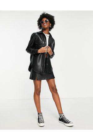 Abercrombie & Fitch Skjortejakke i imiteret læder