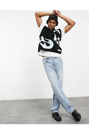 ASOS Jeans med lige ben i lyseblå vintage-vask