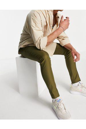 ASOS Mænd Chinos - Elegante tech Skinny-bukser i kakigrøn