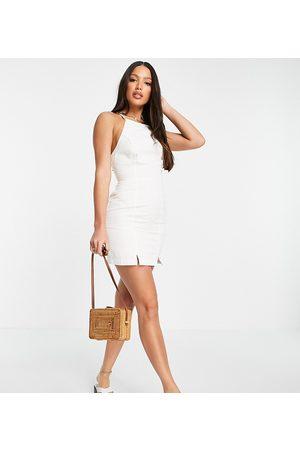 ASOS ASOS DESIGN Tall - slip-kjole med halterneck i blød denim