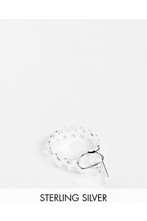 ASOS Ring med lynlåsdesign i sterlingsølv