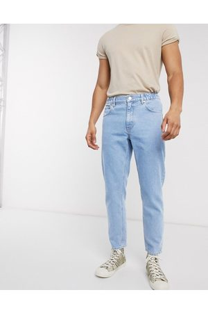 ASOS Klassiske, faste jeans med elastisk talje i lys stenvask
