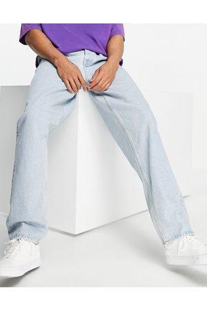ASOS Baggy-jeans med dobbelt plissering og elastik i taljen