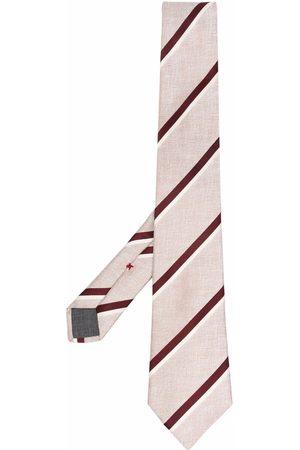 Brunello Cucinelli Mænd Slips - Stribet slips i silke